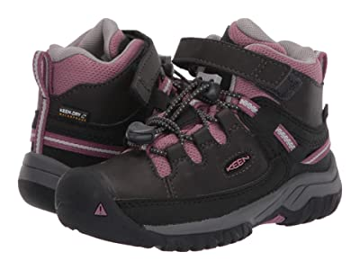 Keen Kids Targhee Mid WP (Toddler/Little Kid) (Raven/Tulipwood) Girl