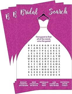 Wedding Word Search Game - Bridal Shower - Damask Wedding Dress Design (50-Sheets)