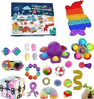 Pop Bubble Fidget Adventskalender Speelgoedset, 24DAGEN Kerst Aftelkalender Sensorische Fidget Pack, Anti-Angst Fidget Bo...