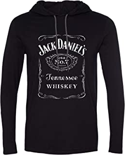 Men's Daniel's Logo Graphic Hooded Long Sleeve T-Shirt - 15261470Jd-89 Jd