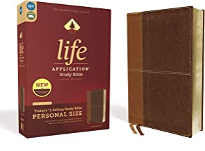 NIV, Life Application Study Bible, Third Edition, Personal Size, Leathersoft, Brown, Red Letter Edition