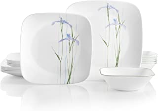 Corelle 18-Piece Service for 6, Chip Resistant, Shadow Iris Dinnerware Set