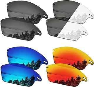 SmartVLT Set of 4 Men's Replacement Lenses for Oakley Fast Jacket Sunglass Combo Pack S01
