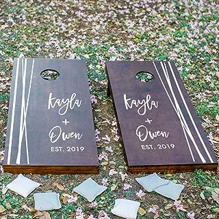Geometric Wedding Gifts, Personalized Cornhole Board Decals, Custom Corn Hole Board Decals, DECAL ONLY