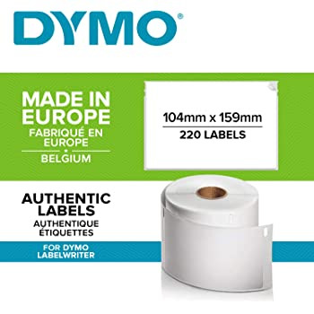 Rotolo da 110 Etichette Facilmente Staccabili 59 mm x 190 mm Autoadesive per Etichettatrici LabelWriter DYMO LW Etichette Multiuso//LAF Originali
