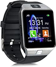 Padgene DZ09 Bluetooth Smart Watch with Camera for Samsung, Nexus, HTC, Sony,LG and Other Android Smartphones (Silver(Blac...