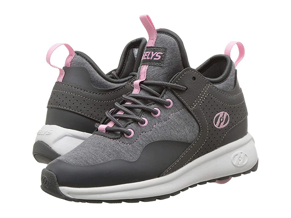 Heelys Piper (Little Kid/Big Kid/Adult) (Charcoal/Light Pink) Girls Shoes