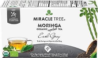 Miracle Tree - Organic Moringa Superfood Tea, 25 Individually Sealed Tea Bags, Earl Grey