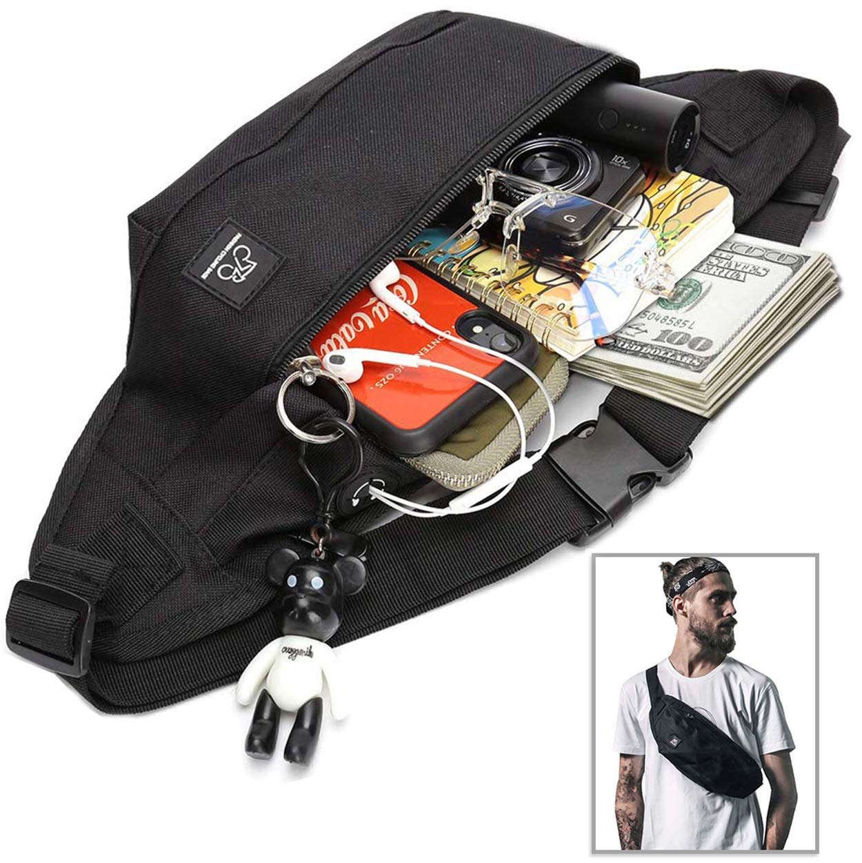 Dont Be A Prick Sport Waist Bag Fanny Pack Adjustable For Hike