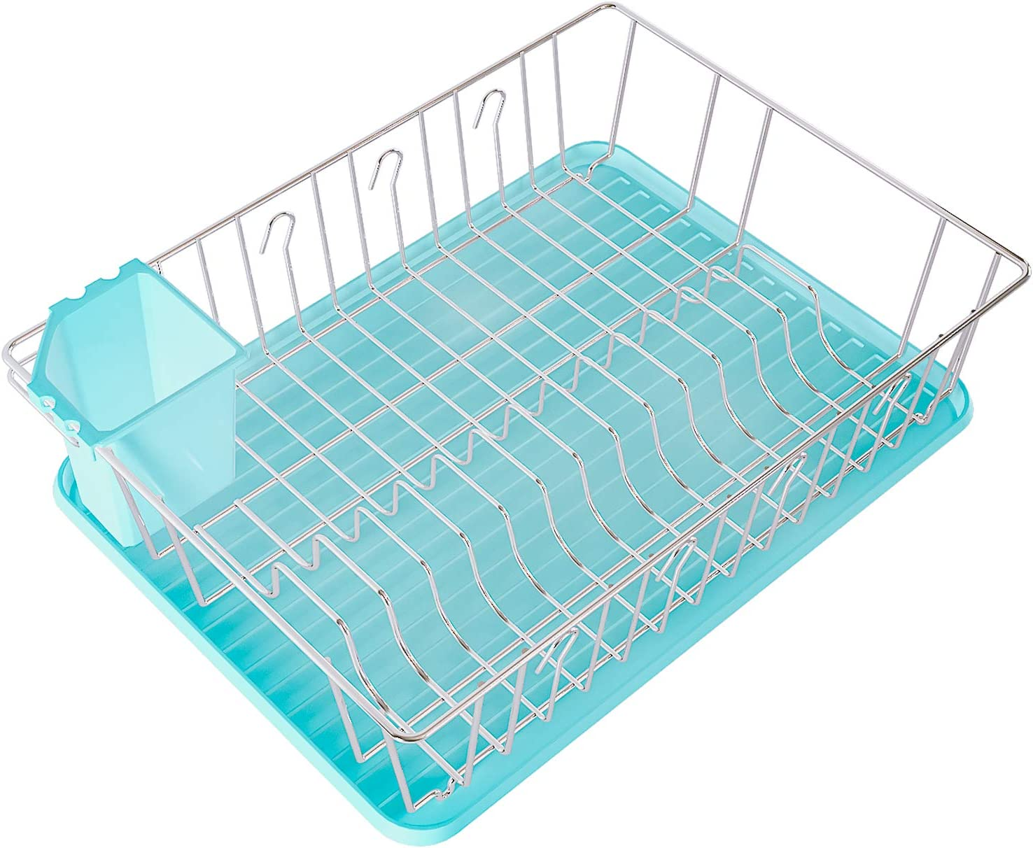 Home Intuition 3-Piece Alternative dealer Dish Drying safety Rack x Set Drainer 17