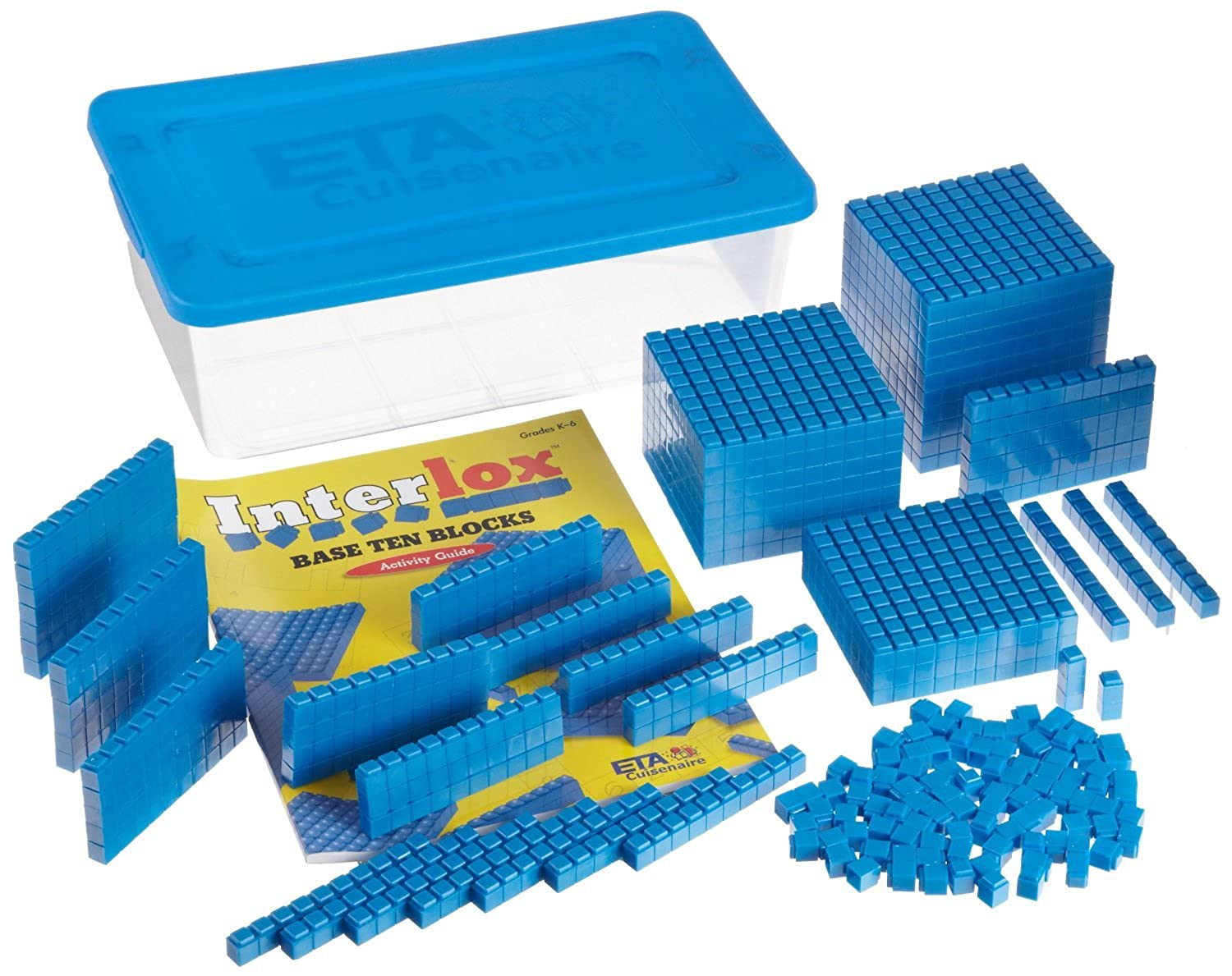 ETA hand2mind, Interlox Base Ten Blocks, 161-Piece Starter Set, (40941) [並行輸入品]