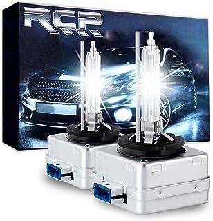 RCP D8S 6000K A Pair Xenon HID Replacement Bulb Diamond White Metal Stent Base 12V Car Headlight Lamps Head Lights 25W