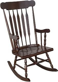 HOMCOM Wooden Baby Nursery Rocking Chair - Dark Brown