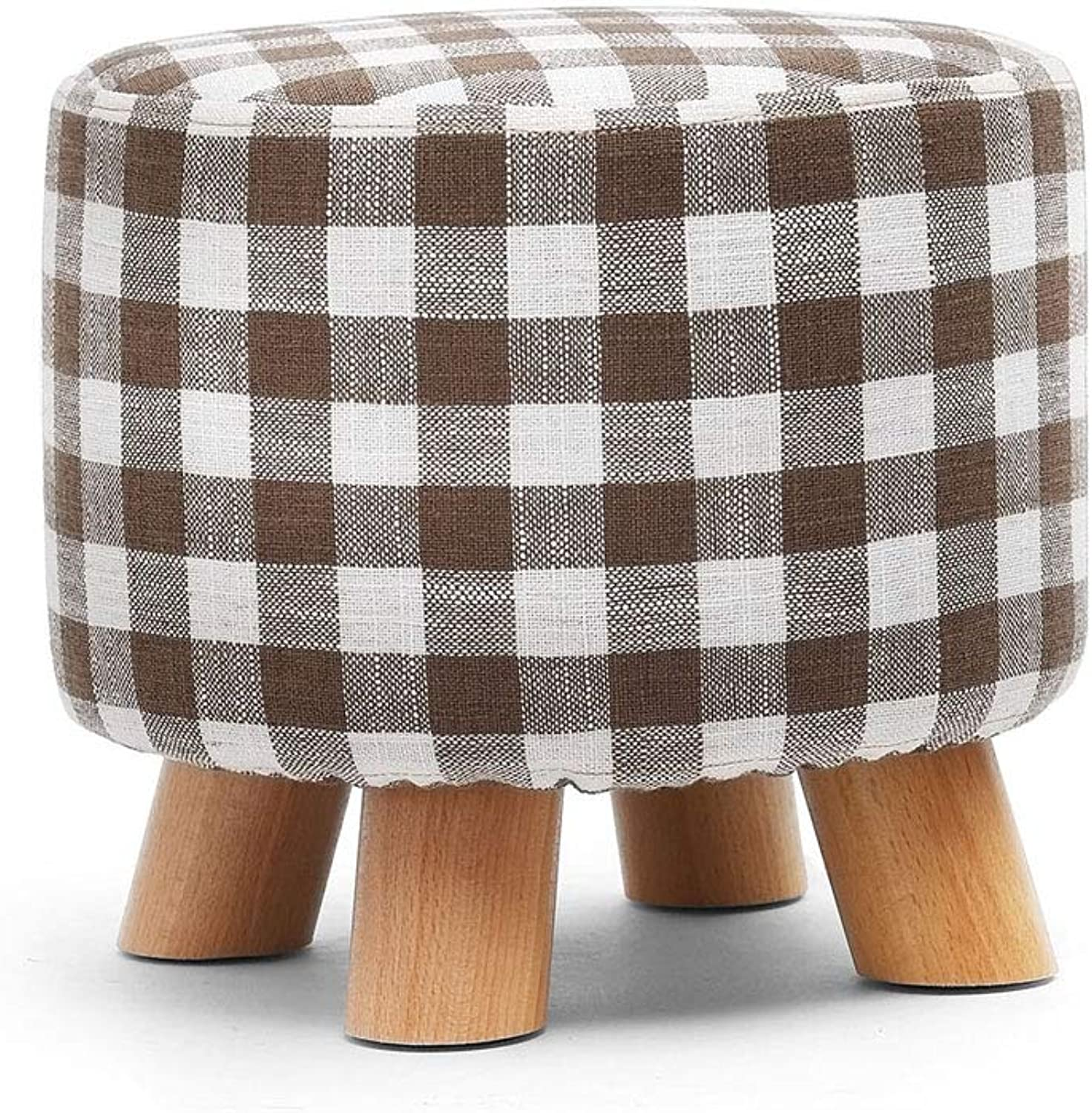 Solid Wood stool - Household Coffee Table Sofa stool, Solid Wood Frame, stool Cover can be Cleaned