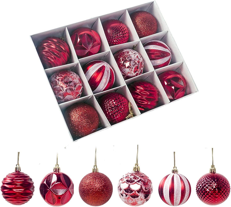 MDZZ Import Christmas Ball Set 12Pcs Decorations Tree Jacksonville Mall X Balls