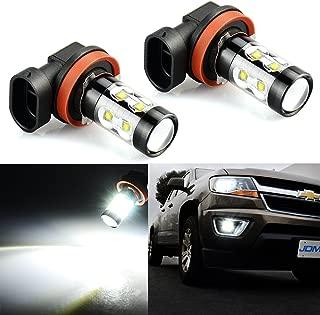 JDM ASTAR Extremely Bright Max 50W High Power H11 LED Fog Light Bulbs for DRL or Fog Lights, Xenon White