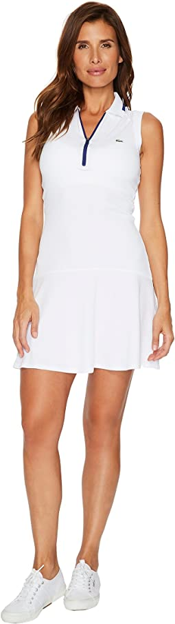 Lacoste - Ultra Dry Pique Sleeveless Polo Dress with Skirt Effect