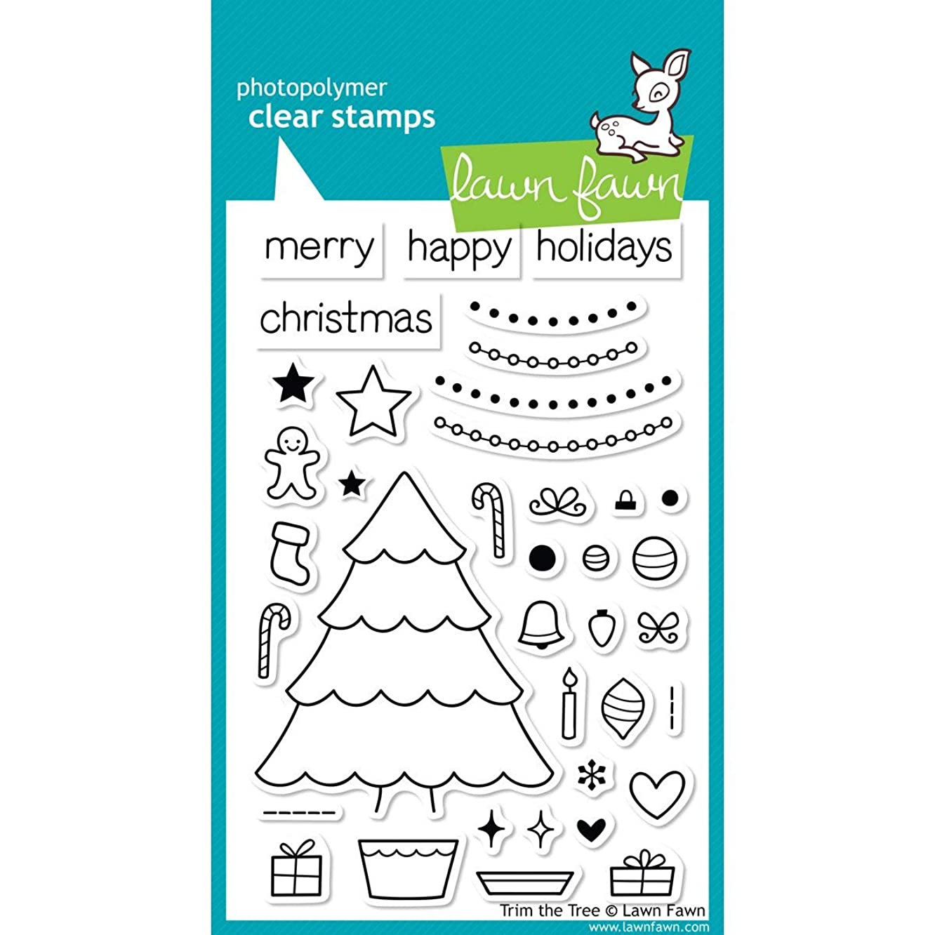 Lawn Fawn Clear Stamps - Trim The Tree #LF564 by Lawn Fawn