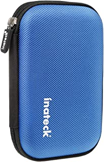 Inateck Portable Shockproof EVA Carrying Case Shell with Zipper for 2.5 Inch Hard Disk Drives HDD/ SSD and My Passport Ultra (Blue)
