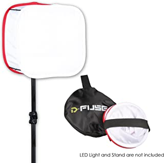 Kamerar D-Fuse Medium White LED Light Panel Softbox: 9 x 9 Opening, Foldable, Portable Diffuser, Carrying Bag, Strap Attachment, Photography, Photo Video (DF-1MW)