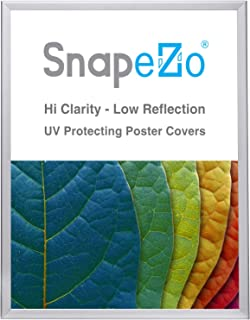 SnapeZo Poster Frame 36x48 Inches, Silver 1.25 Inch Aluminum Profile, Front-Loading Snap Frame, Wall Mounting, Professional Series