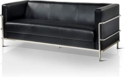 Strange Amazon Com Festnight Faux Leather 2 Seater Sofa Luxurious Customarchery Wood Chair Design Ideas Customarcherynet