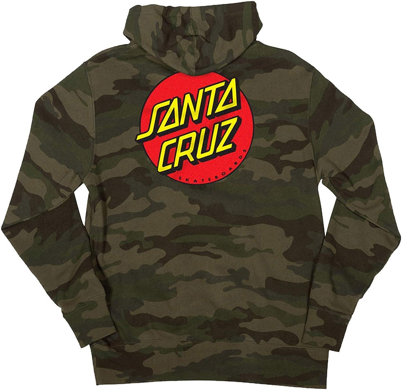 Santa Cruz CLASSIC DOT PULLOVER HOODED L//S SWEATSHIRT Currant Men/'s Hoodie