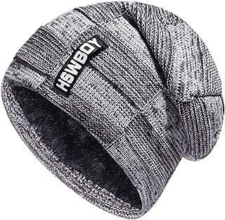 Plaid Velvet Scarf Knitting Beanie Hat Scarf Men Thicken Fleece Hedging Warm Ski Bone Winter