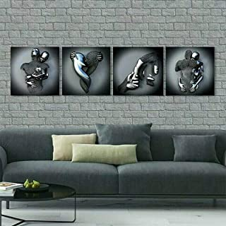 Liefde hart 3d kunst aan de muur, abstracte metalen figuur sculptuur canvas schilderij hangende schilderij, liefde hart gr...