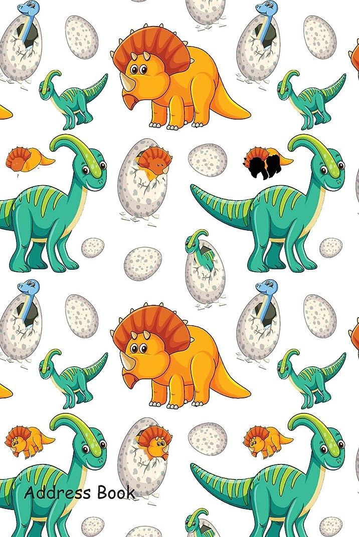 手伝うロマンスペニーAddress Book: Include Alphabetical Index With Cute dinosaur seamless cover