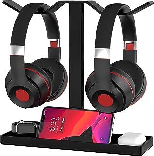 Headphone Stand, MOCREO Acrylic Dual Balance Headset Stand Gaming Headphone Holder/Mount/Hanger, Desktop Headset Holder/Mo...