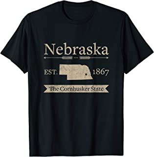 The Cornhusker State - Nebraska Home State T-Shirt