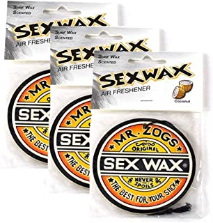 Sex Wax Air Freshener (3-Pack, Coconut) (Limited Edition)