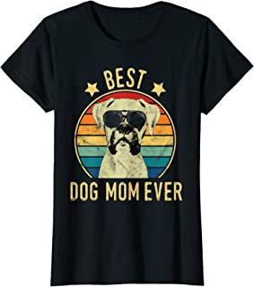 Womens Best Dog Mom Ever Boxer Mother's Day Gift T-Shirt