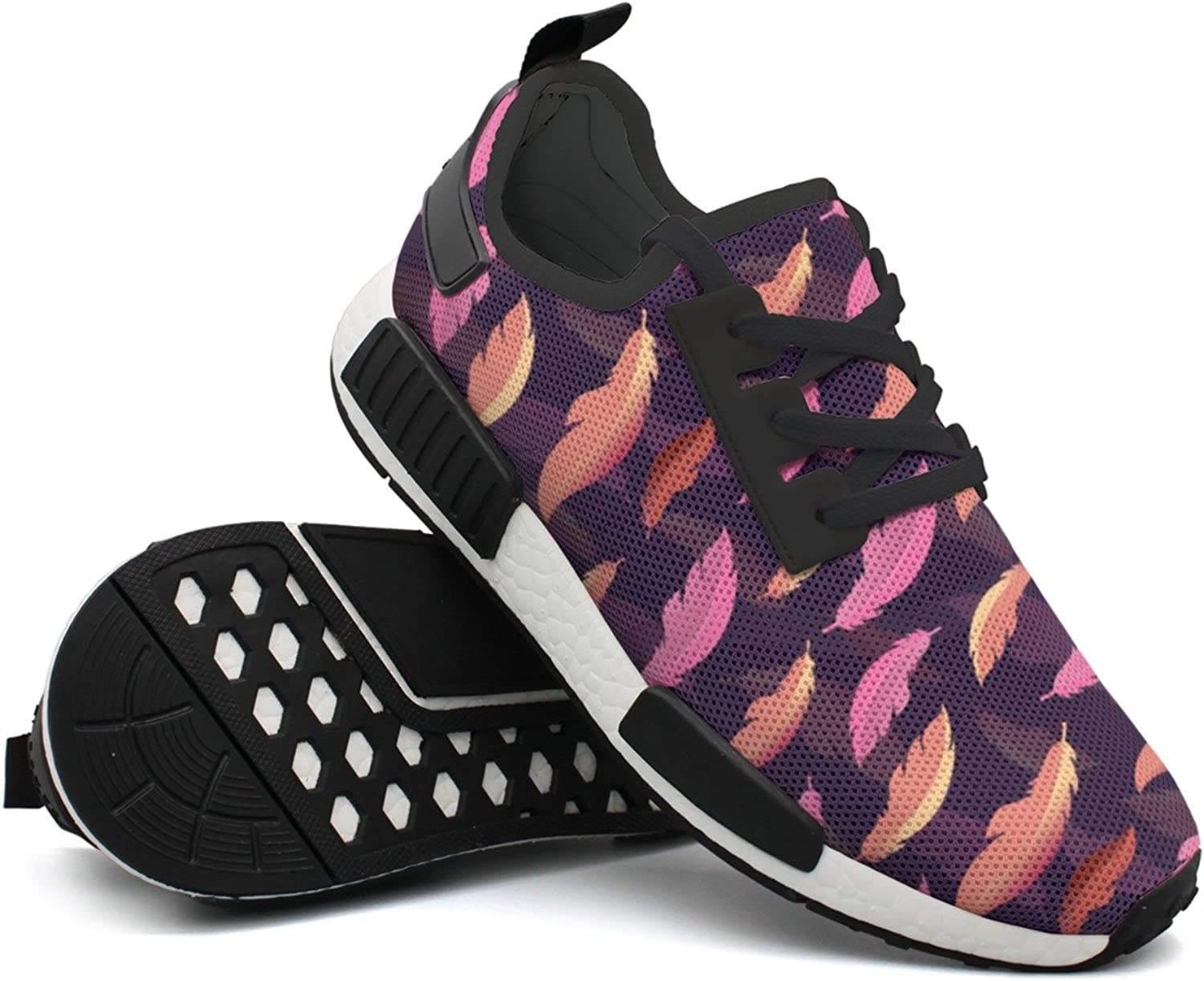 Pink Feathers Womens Gift Jogger Running shoes Neutral Mens