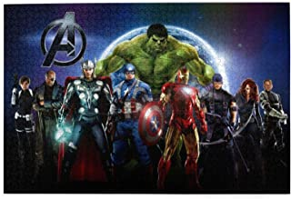 Super Hero Action Figures Puzzles for Adults 1000 Piece Wooden Jigsaw Puzzles 1000 Pieces for Adults Fun Personalized Picture Puzzle