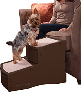 Pet Gear Easy Step II Pet Stairs, 2 Step for Cats/Dogs up to 150 Pounds, Portable, Removable Washable Carpet Tread