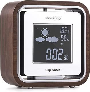 Clip Sonic - Sl238 estación meteorológica Temperatura Humedad Reloj Retro