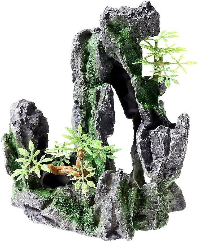 Rock Cave 6.5  Aquarium Ornament decoration fish tank stone Mountain View resin