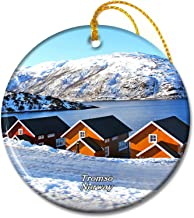 Umsufa Norway Tromso Fjords Christmas Ornaments Ceramic Sheet Travel Souvenir Gift