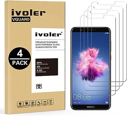 iVoler [4 Pack] Pellicola Vetro Temperato per Huawei P Smart [Garanzia a Vita], Pellicola Protettiva, Protezione per Schermo