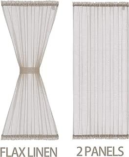 Sheer French Door Curtain Panels 72