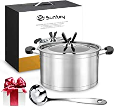 Sunfuny Stainless Steel Cookware Cooking Pot Set with Soup Ladle,Dutch Oven, 22cm Cooking Soup Pot, Kitchen Utensils Eid, ...