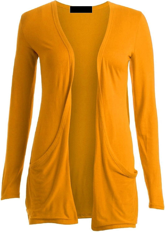 ZJ Clothes Ladies Women Boyfriend Open Cardigan with Pockets
