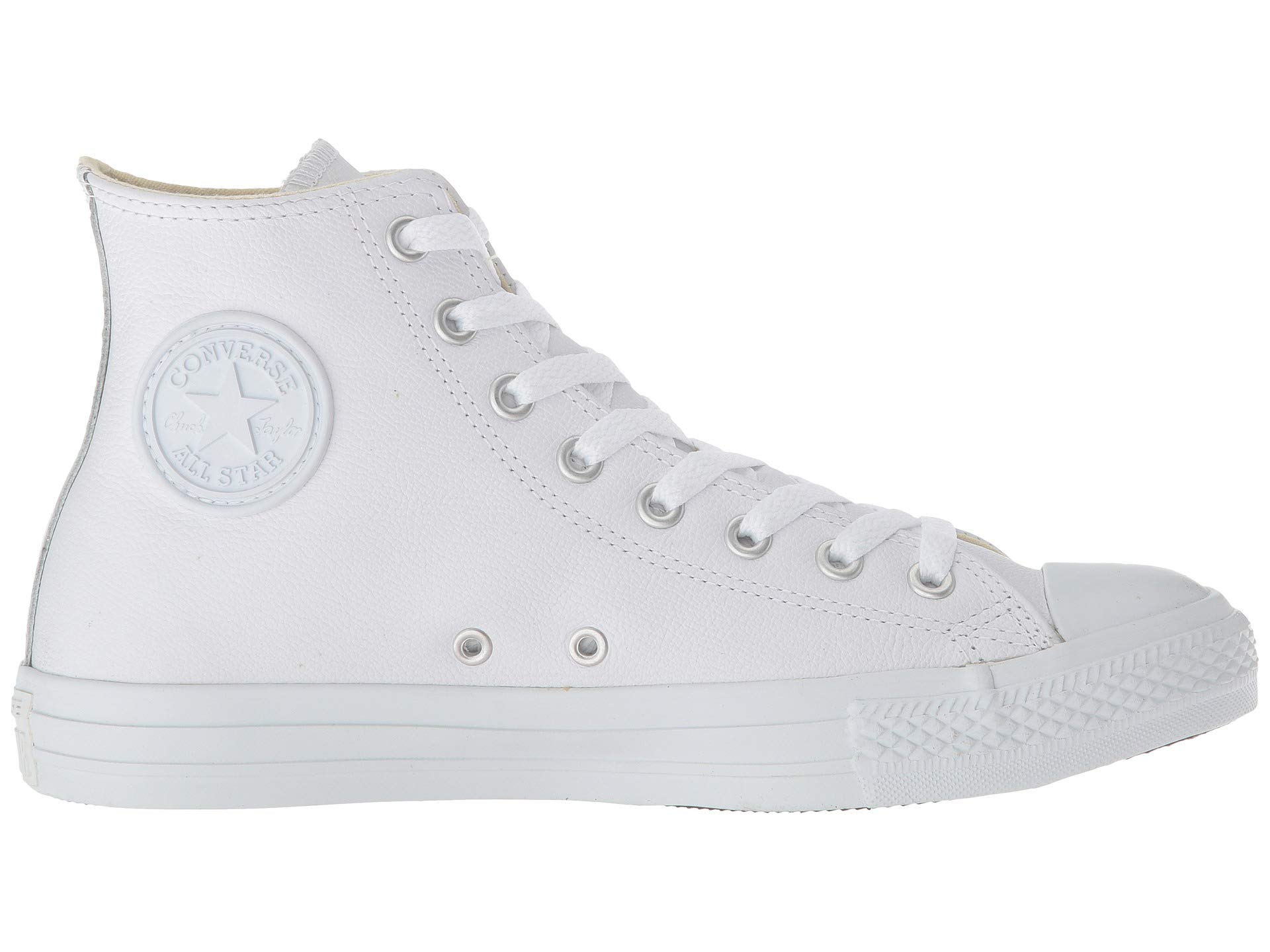 Taylor® Chuck Hi White Star® All Converse Monochrome Leather 67PCqWw