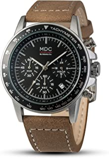 MDC Mens Pilot Watch Chronograph Date Calendar Leather Band Analog Wrist Watches for Men