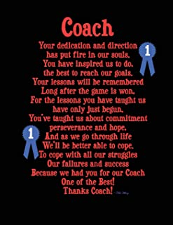 Coach: Notebook 8.5x11 Blank Lined Pages with Appreciation Poem on Cover (Notebooks for All Occasions)