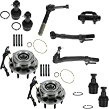 10 Piece Kit Wheel Hub Bearing Ball Joint Tie Rod End LH RH for Ford Super Duty
