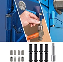 ELONN Door Pin Guides Hinge Liners and Door Bushing Removal Tool for 2007-2019 Jeep Wrangler JK JKU JL JLU 4 Door (17 Pcs)
