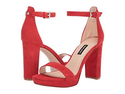 Nine West Dempsey Heeled Sandal (Medium Red) Women